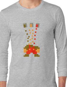 Pixel Drop Mario Long Sleeve T-Shirt
