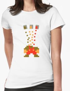 Pixel Drop Mario Womens Fitted T-Shirt