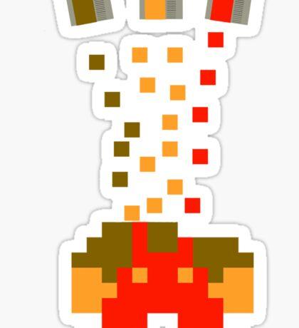 Pixel Drop Mario Sticker
