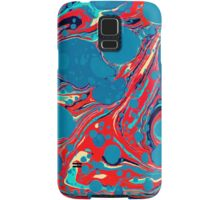 Psychedelic Blue Red Marbled Paper Samsung Galaxy Case/Skin