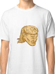 Man Open Head Brain Etching Classic T-Shirt