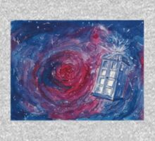 TARDIS in watercolour 01 Baby Tee