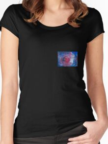 TARDIS in watercolour 01 Women's Fitted Scoop T-Shirt