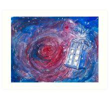 TARDIS in watercolour 01 Art Print