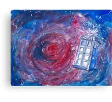 TARDIS in watercolour 01 Canvas Print
