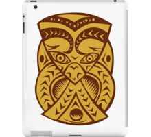 Maori Mask Woodcut iPad Case/Skin