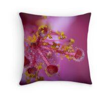 Pink Hibiscus Throw Pillow