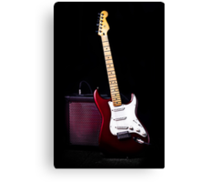 Fender Stratocaster - Red Electric Guitar Canvas Print