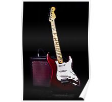 Fender Stratocaster - Red Electric Guitar Poster