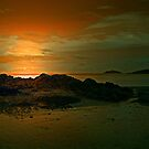 SUNSET ON THE ROCKS by leonie7