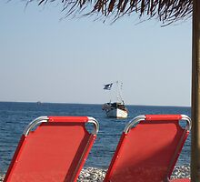 The Greek flag.. by MICHALENA