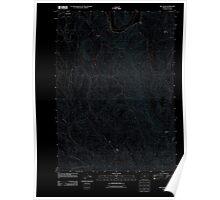 USGS Topo Map Oregon Bill Peak 20110826 TM Inverted Poster