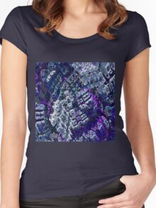 Center - Fractal Abstract Women's Fitted Scoop T-Shirt