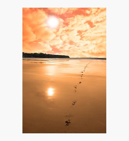 ballybunion scenic red sunrise Photographic Print