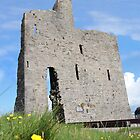 ballybunions old castle ruins by morrbyte