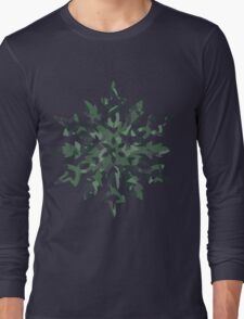 The Melting Snowflake – Dizzy Green Long Sleeve T-Shirt