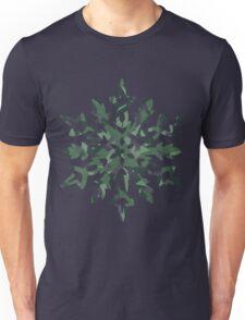 The Melting Snowflake – Dizzy Green Unisex T-Shirt
