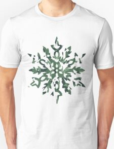 The Melting Snowflake – Dizzy Green T-Shirt