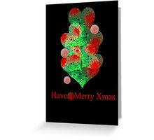 the christmas ball tree Greeting Card