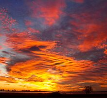Valentines Day 2011 Sunrise - Union Lake - Longmont - Colorado - by Bo Insogna