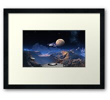 Rendezvous at Blue Hills - Space Pirates Framed Print