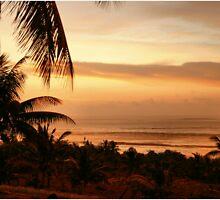 """SALMON PINK SUNSET"" - Mozambique by Sandy Beaton"