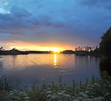 Lake at Sunset by Hilda Rytteke