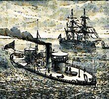 American Civil War US Navy ironclad MIANTONOMA 1863 by Dennis Melling
