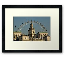 Horse Guards with London Eye Framed Print