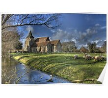 St Clements,Old Romney with Sheep Poster