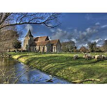 St Clements,Old Romney with Sheep Photographic Print