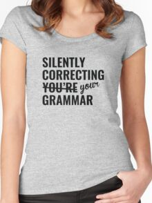 Silently Correcting You're Grammar Women's Fitted Scoop T-Shirt