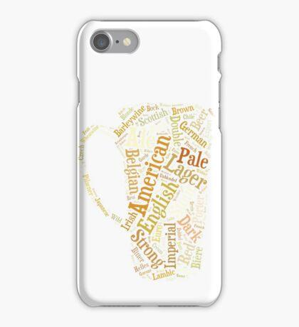 Beer Word Cloud iPhone Case/Skin