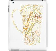Beer Word Cloud iPad Case/Skin