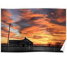 Early Morning Country Sunrise Poster