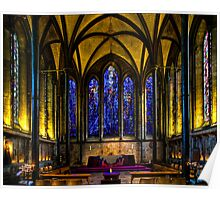 Trinity Chapel in Salisbury Cathedral Poster