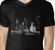 City Signature, Chicago, IL Mens V-Neck T-Shirt