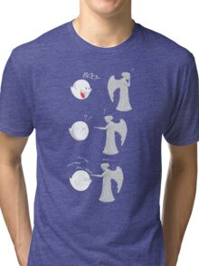 boo vs Weeping angel ! don't blink! Tri-blend T-Shirt