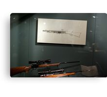 Guns and a drawing of a gun, Los Angeles, Ca., January 2011 Canvas Print