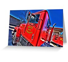 Chico, Texas - Volunteer Fire Department Greeting Card