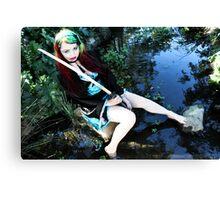 Geisha in the Pond - Kalli McCandless Canvas Print