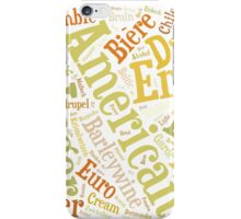 Beer Word Cloud Rectangle iPhone Case/Skin