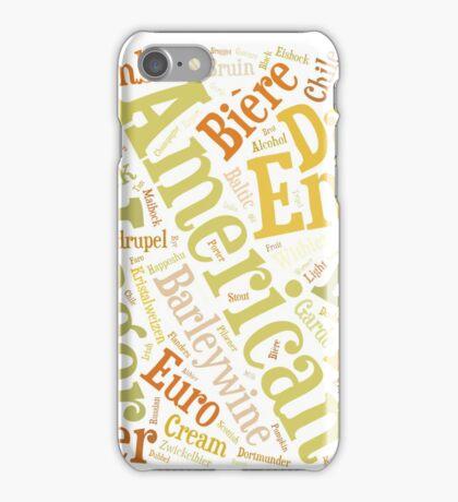 Beer Word Cloud Rectangle iPhone Case/Skin
