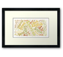 Beer Word Cloud Rectangle Framed Print
