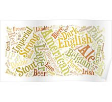 Beer Word Cloud Rectangle Poster
