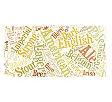 Beer Word Cloud Rectangle Photographic Print