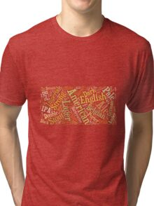 Beer Word Cloud Rectangle Tri-blend T-Shirt