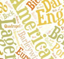 Beer Word Cloud Rectangle Sticker