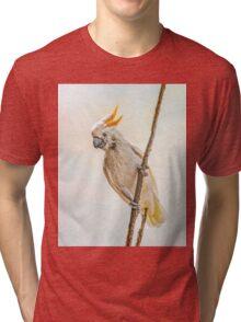 Sulphur Crested Cockatoo Tri-blend T-Shirt