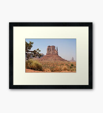 West Mitten Butte at Monument Valley Framed Print